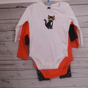 3 pc baby outfit halloween size 9 month NWT